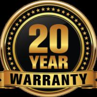 gold 20 year warranty award